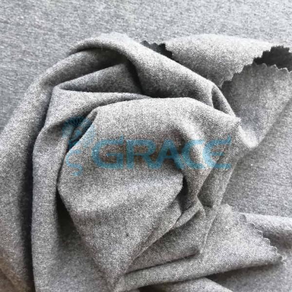 Кулирка GVS77V Verdi 210 - ткань трикотажная из вискозы, меланж серая