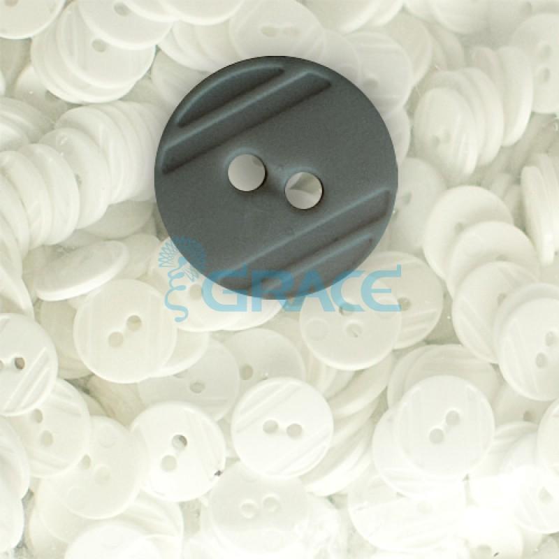 Пуговицы средние круглые плоские Guz YP 1824 (черные 00-09)