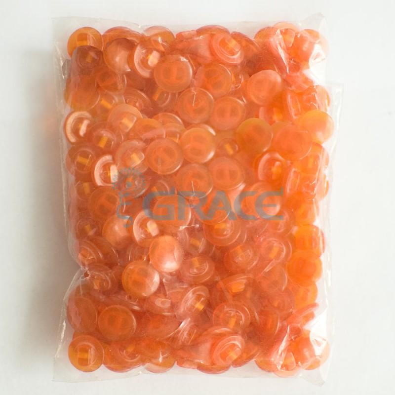Пуговицы малые на ножке перламутровые Guz A kar 18 (оранжевые)