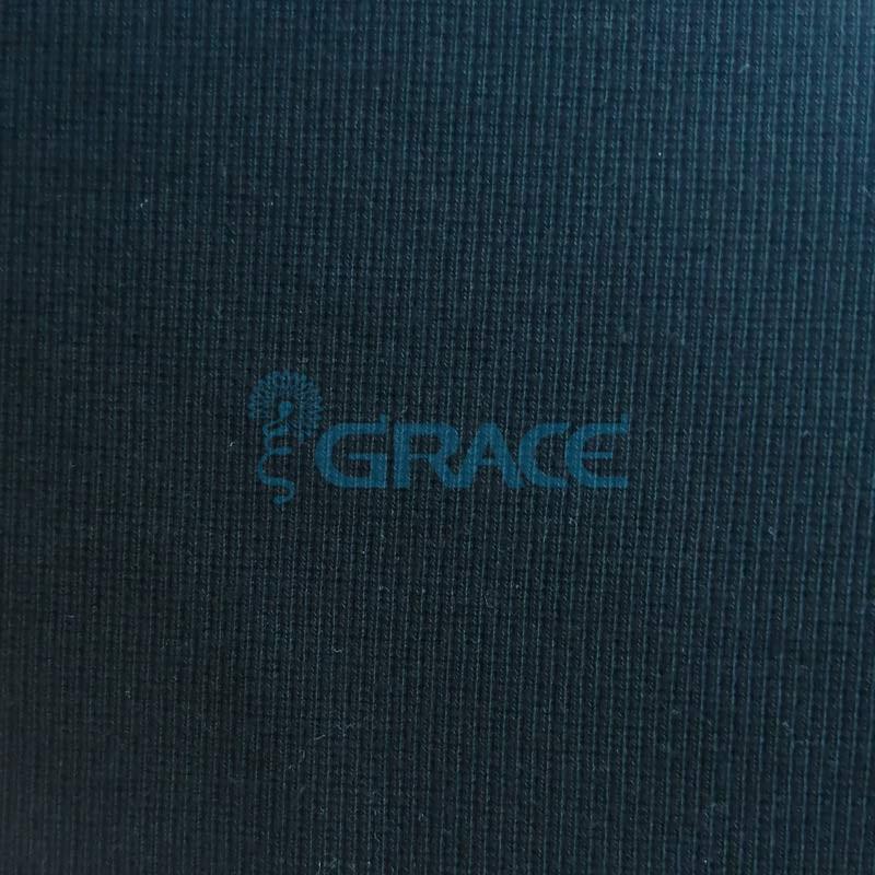 Кашкорсе GVC348 - ткань хлопковая трикотажная, черная