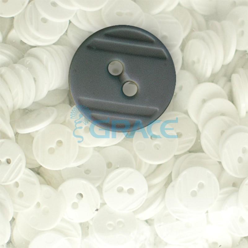 Пуговицы средние круглые плоские Guz YP 1824 (серые 70-20)