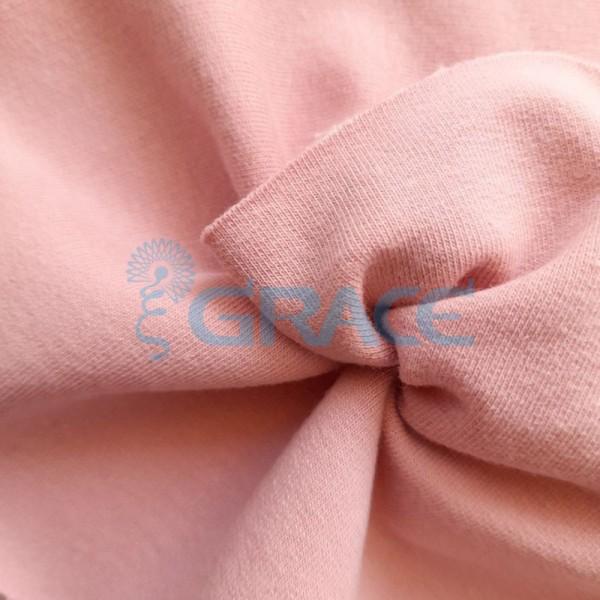 Футер 280 гр. - ткань хлопковая, петельчатая, светлого розового цвета