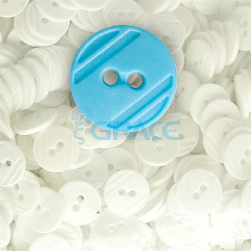 Пуговицы средние круглые плоские Guz YP 1824 (голубые 50-20)