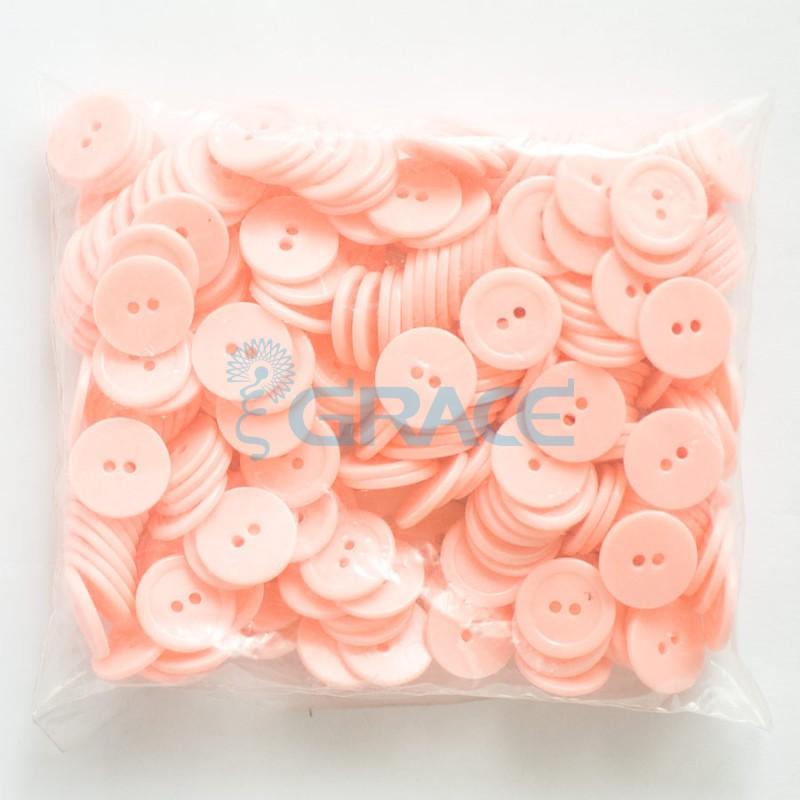 Пуговицы большие круглые плоские Guz YP 1832 (розовые)