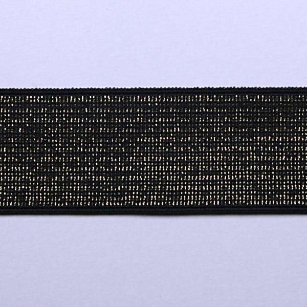 Резинка декоративная металлизированная