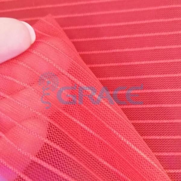 Ткань тюль эластичная красная 80 гр./м², Tiul Elastyczny-Pasek