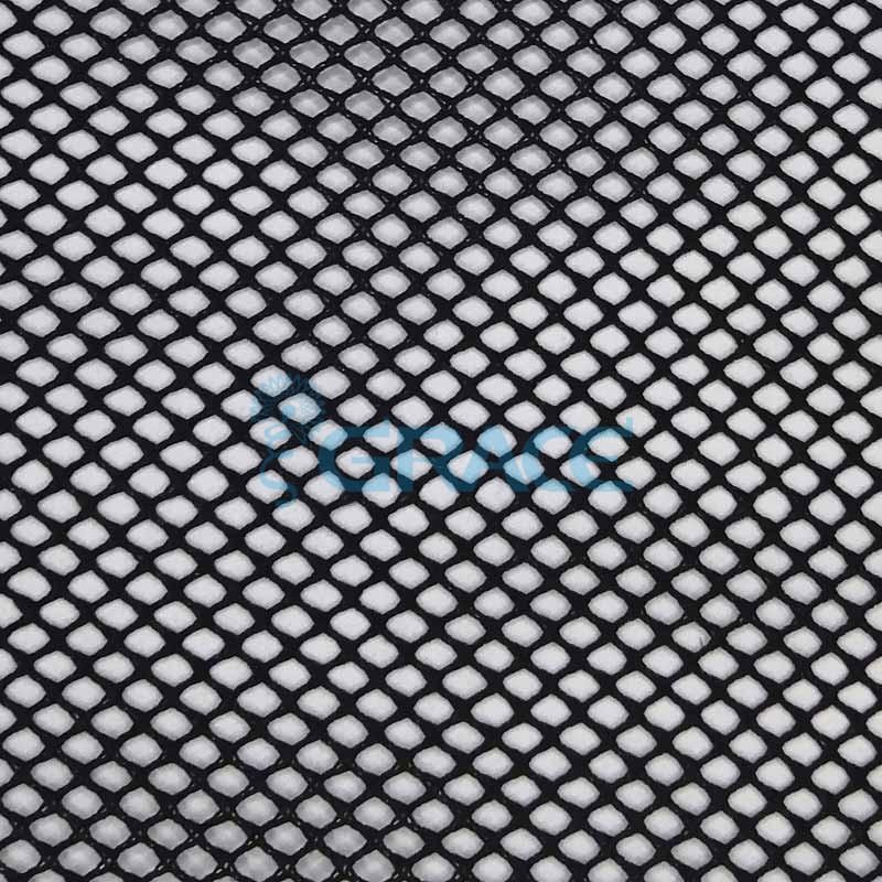 Спортивная сетка эластичная 73 гр/м², черная кримплен средняя, Siatka bistor S 635 B