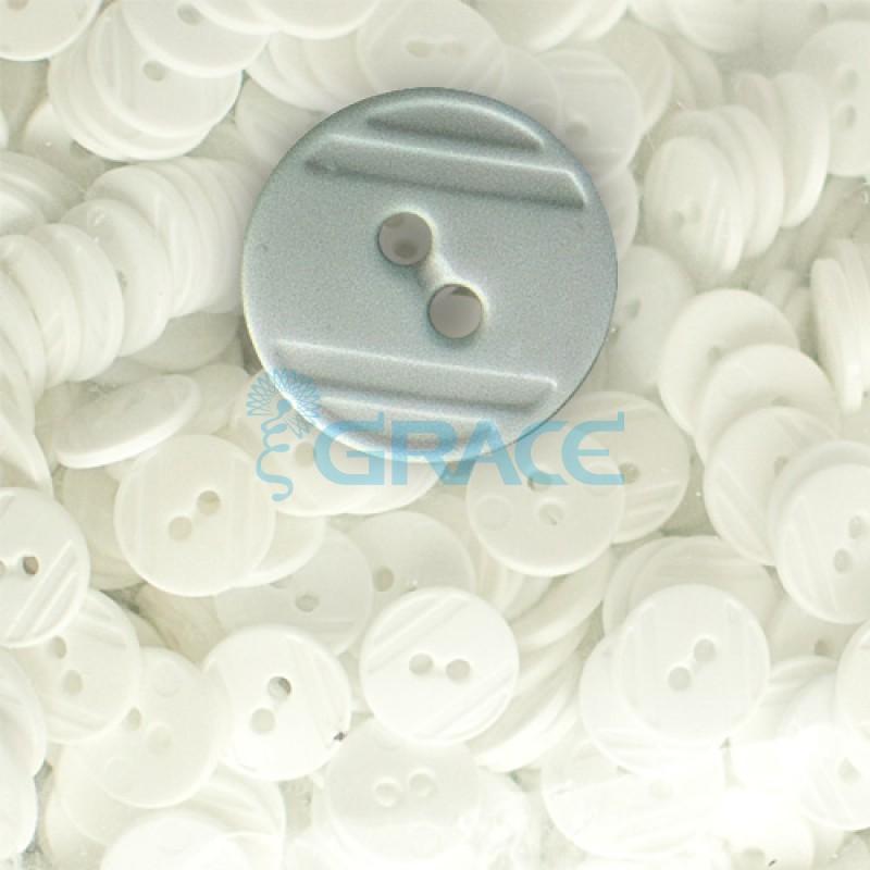 Пуговицы средние круглые плоские Guz YP 1824 (серые 89-00)