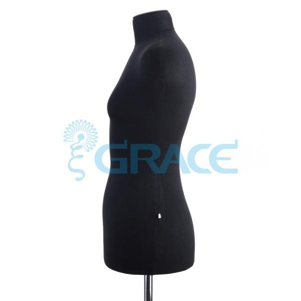 Манекен мягкий торс женский 42 размер, черный