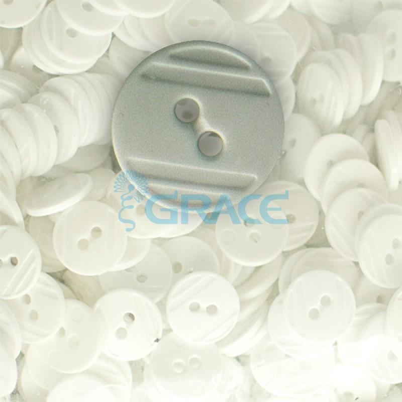 Пуговицы средние круглые плоские Guz YP 1824 (серые 80-09)