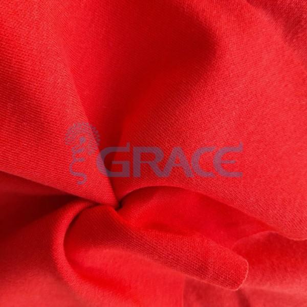 Интерлок теплого алого оттенка - ткань хлопковая трикотажная однотонная
