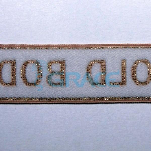 Резинка металлизированная с логотипом арт. 5256