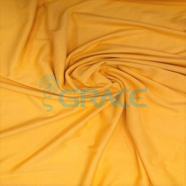 Кулирка джерси милано - ткань трикотажная из вискозы, оранжевая струящаяся