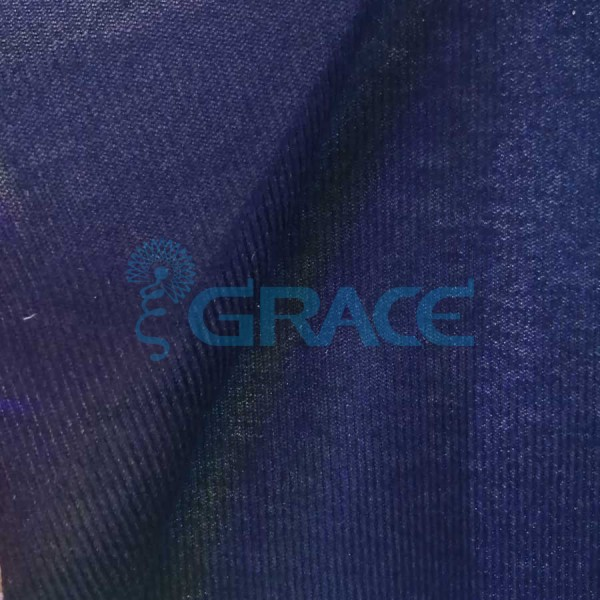 Трикотажный велюр эластичный 80 гр./м², синий Dzianina Welurowa - S