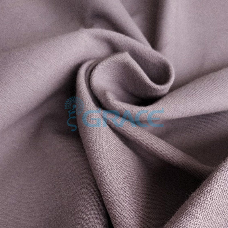 Футер 280 гр. - ткань хлопковая, петельчатая, фиолетового цвета