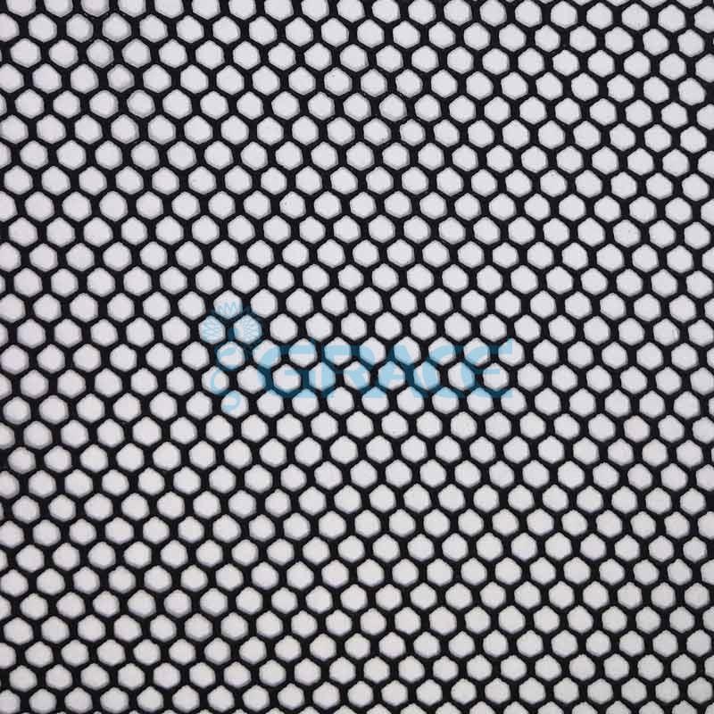 Спортивная сетка эластичная 98 гр/м², черная кримплен крупная, Siatka bistor S 580 B