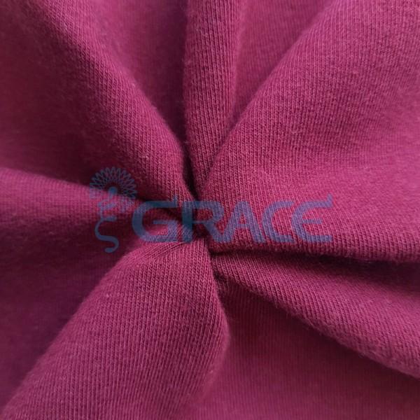 Футер 280 гр. - ткань хлопковая, петельчатый, насыщенный оттенок розовой фуксии