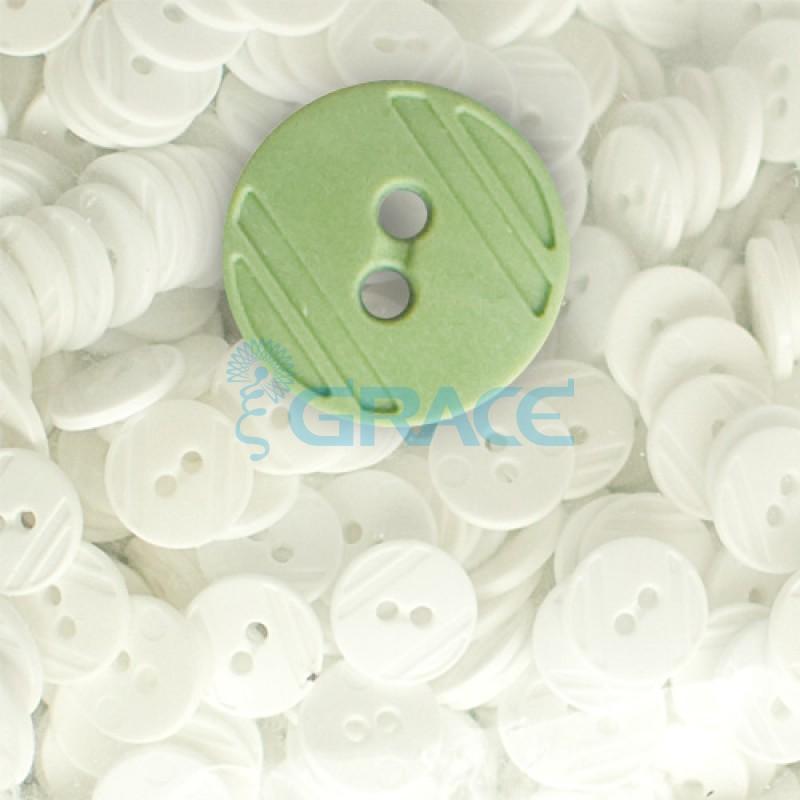 Пуговицы средние круглые плоские Guz YP 1824 (зеленые 60-34)