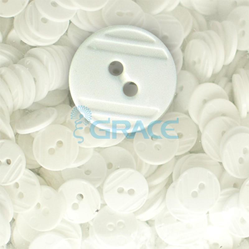 Пуговицы средние круглые плоские Guz YP 1824 (белые 88-89)