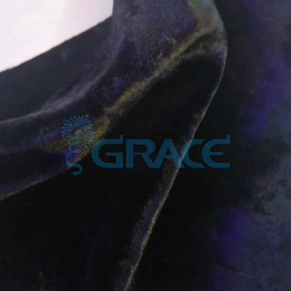 Трикотажный бархат эластичный 270 гр./м², черный Aksamitna Elas - PP/L