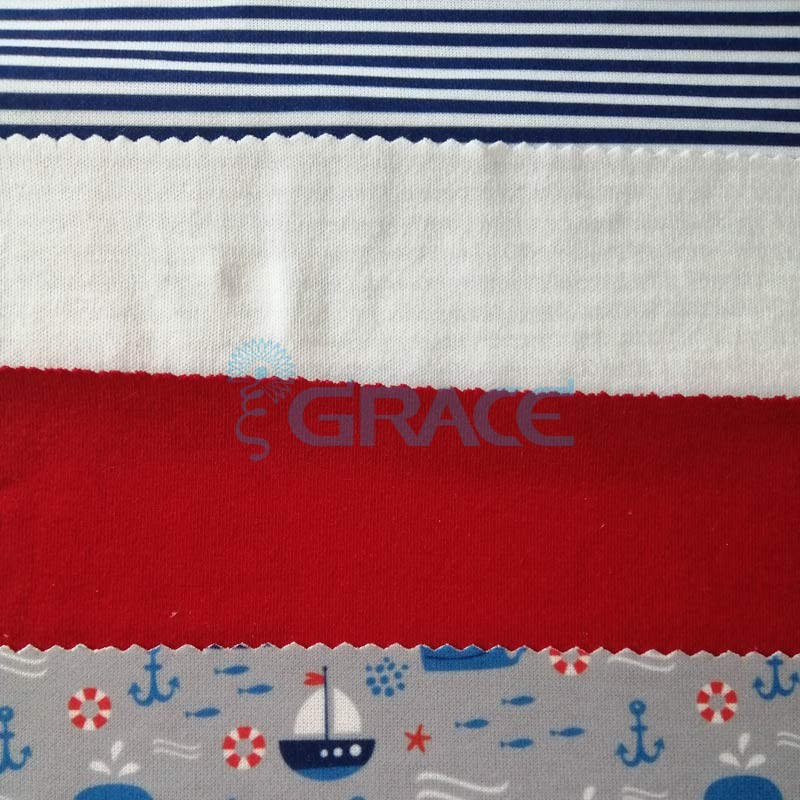 Коллекция интерлок с рисунком морской тематики - ткань хлопковая, трикотаж