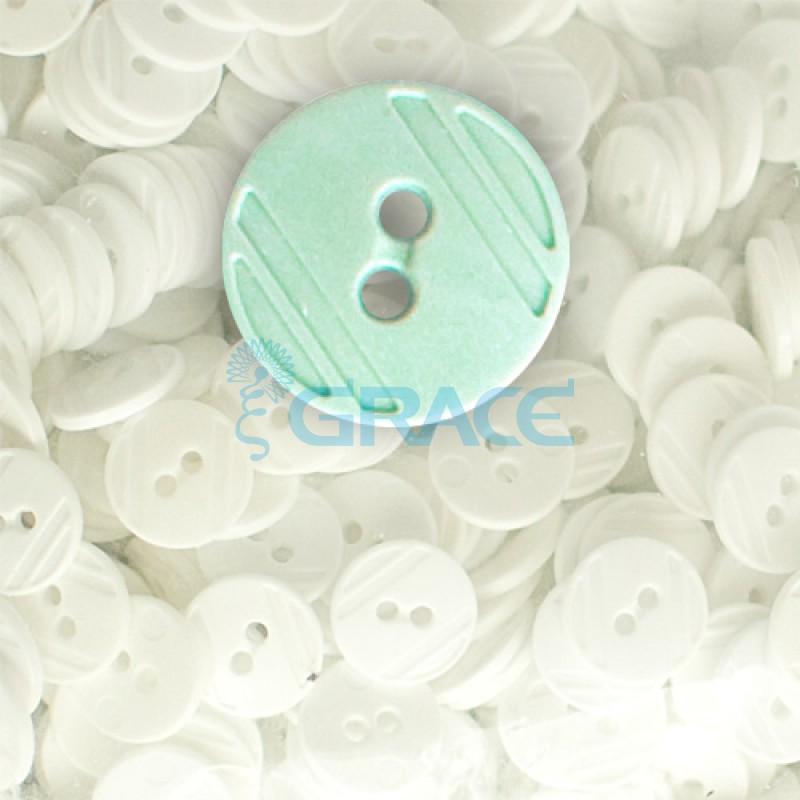 Пуговицы средние круглые плоские Guz YP 1824 (зеленые 69-47)