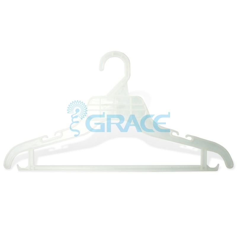 Вешалка для костюма, не поворотная, с крючками, 40 см. WieP0001 (белая)