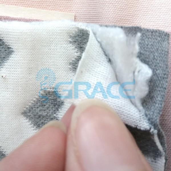 Жаккард MZD 6316 - ткань хлопковая трикотажная с полиэстером, бело-серая