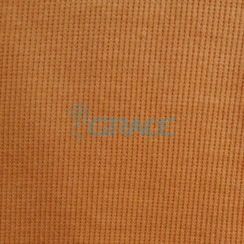 Кашкорсе GVC43 - ткань хлопковая трикотажная, оранжевая