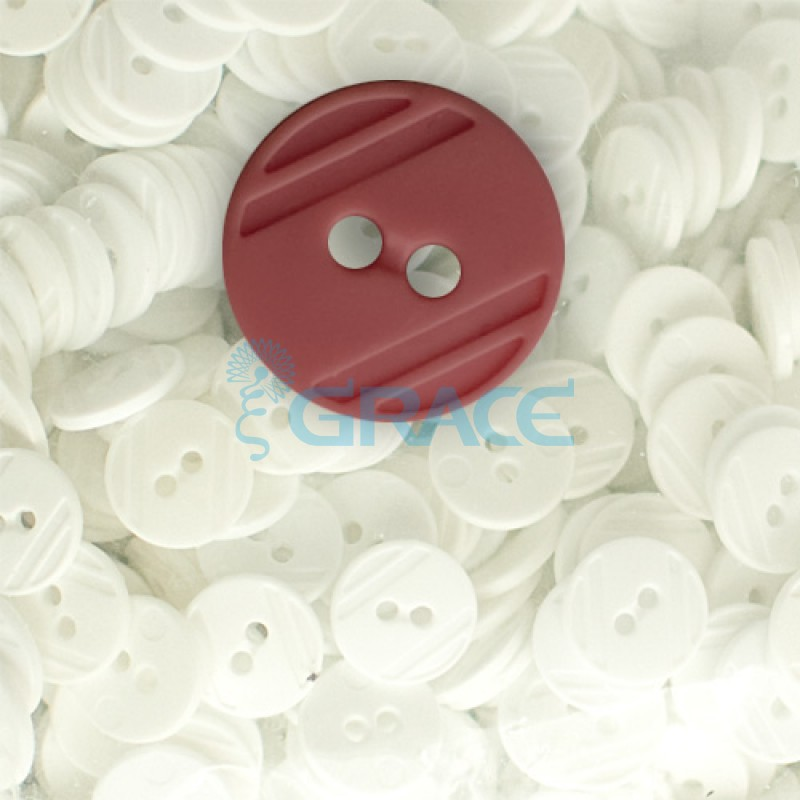 Пуговицы средние круглые плоские Guz YP 1824 (красные 41-46)