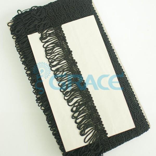 Бахрома петельчатая для одежды 30 мм. (черная)
