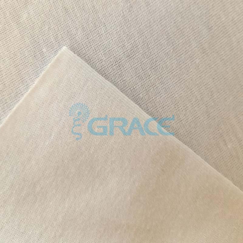 Кулирка джерси - ткань хлопковая трикотажная, экрю однотонная