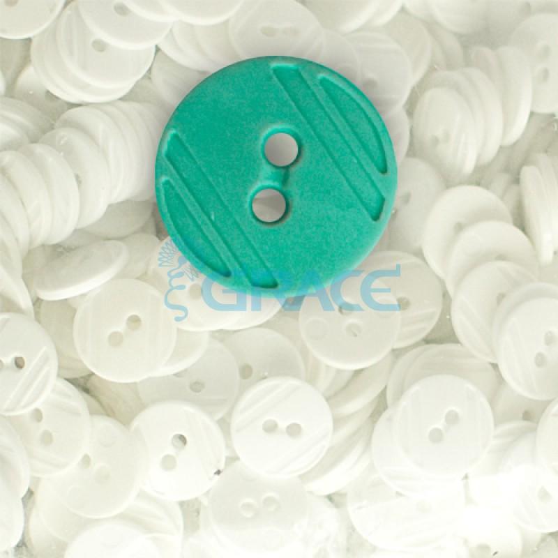 Пуговицы средние круглые плоские Guz YP 1824 (зеленые 60-01)