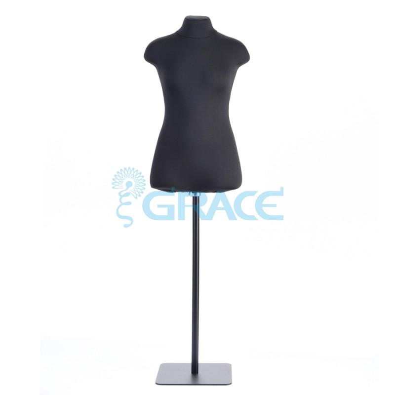 Манекен мягкий масштаб женский 44 размер, черный