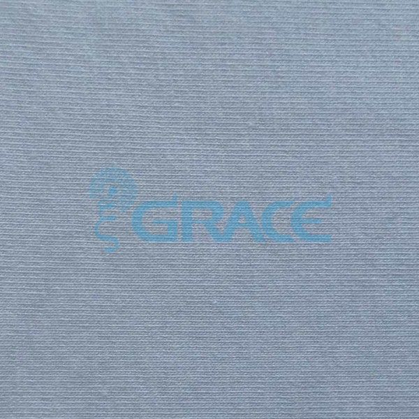 Кулирка MSL 1222 - ткань хлопковая трикотажная, голубая
