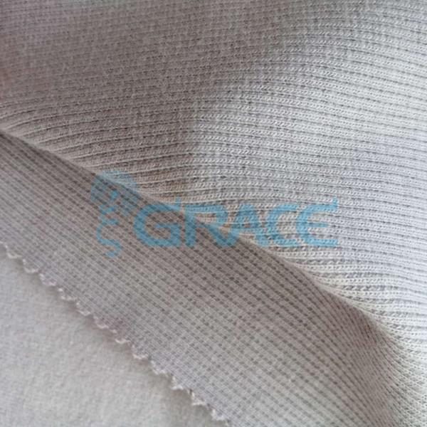 Кашкорсе GVC46 - ткань хлопковая трикотажная, темно-бежевая