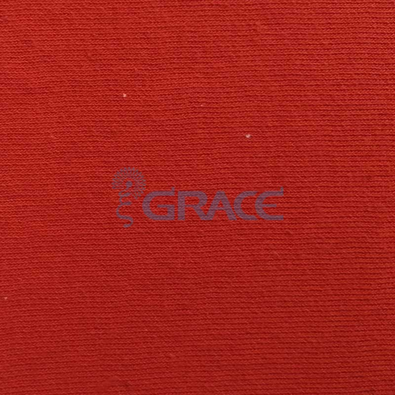 Футер MD 3600 - ткань хлопковая двухсторонняя с начесом, красная