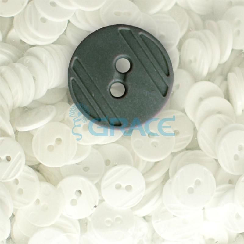 Пуговицы средние круглые плоские Guz YP 1824 (зеленые 90-06)