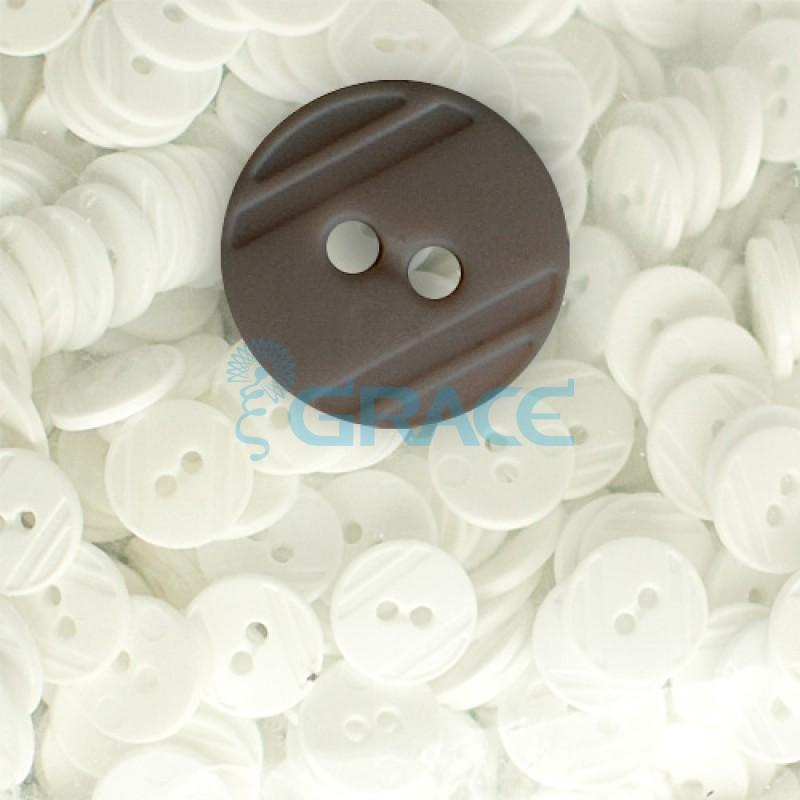 Пуговицы средние круглые плоские Guz YP 1824 (коричневые 80-17)
