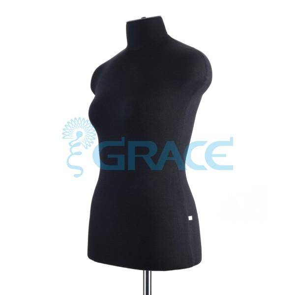 Манекен мягкий торс женский 46 размер, черный