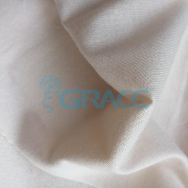 Кулирка GVS02 - ткань хлопковая трикотажная, светло-бежевая