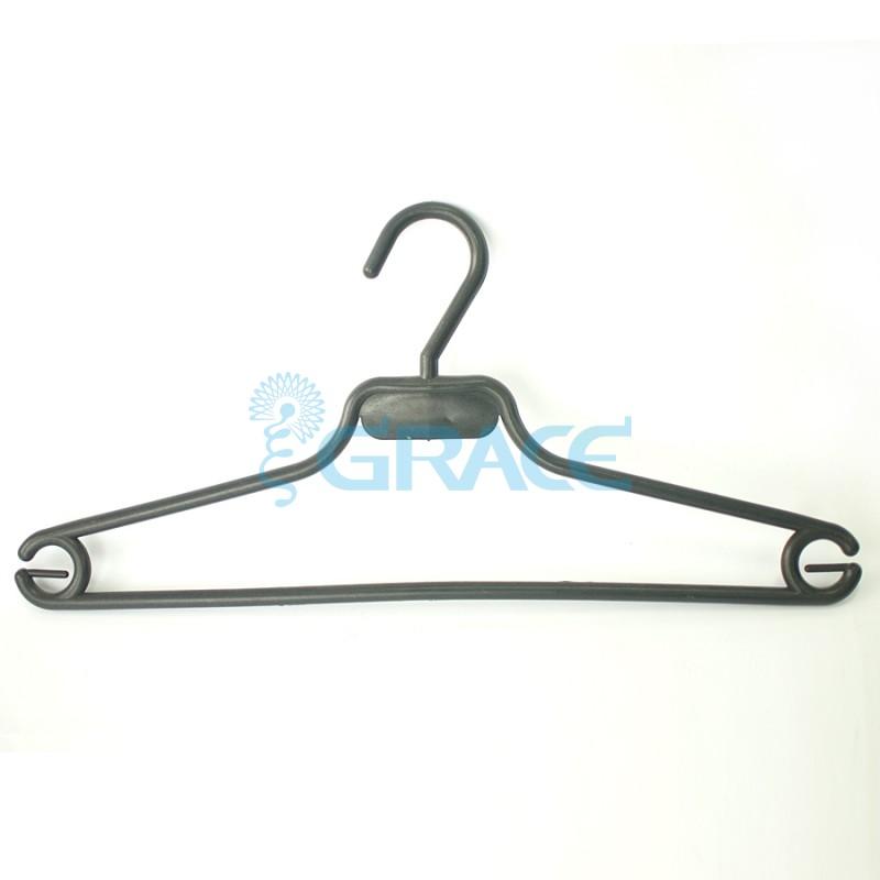 Вешалка костюмная, не поворотная, с крючками, 41 см. WiePHB-5 (черная)