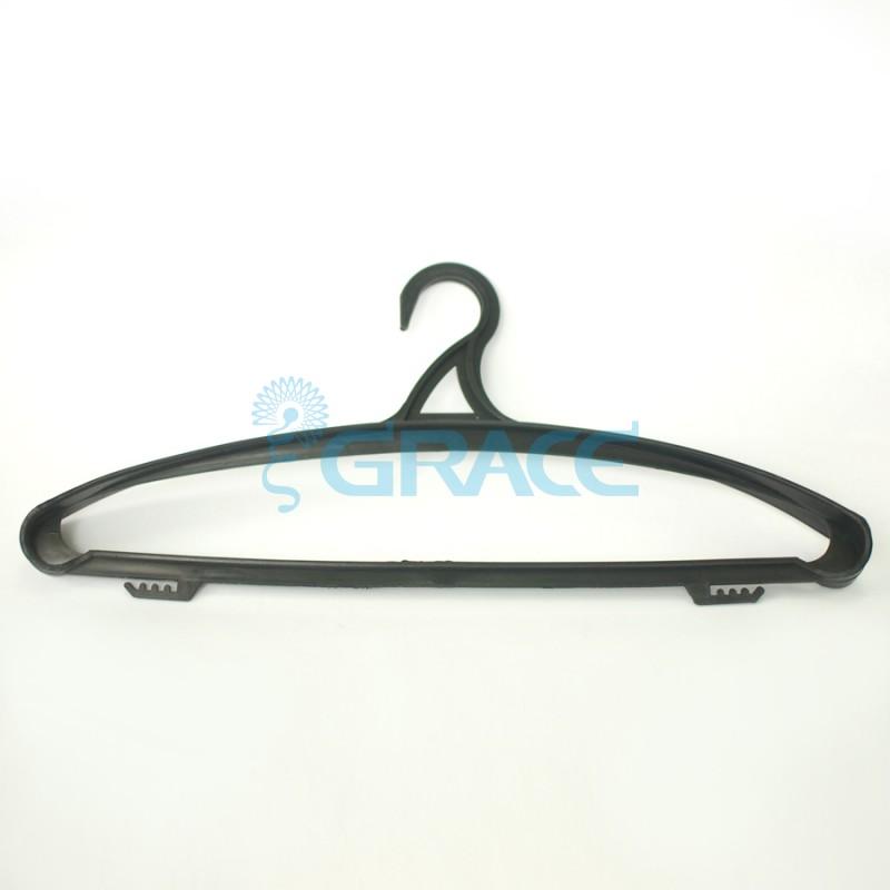 Вешалка для одежды, не поворотная, с крючками, 47 см. WieMWL-2 (черная)