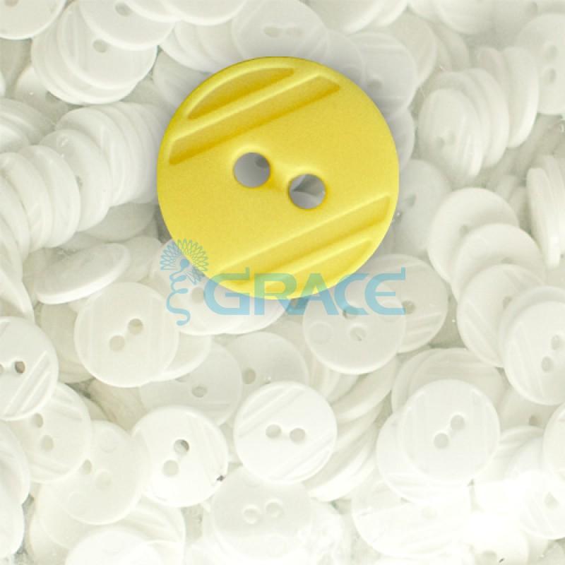 Пуговицы средние круглые плоские Guz YP 1824 (желтые 10-43)