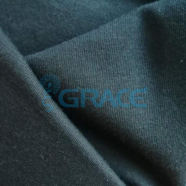 Кулирка GVS02 - ткань хлопковая трикотажная, черная