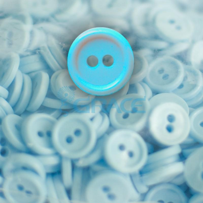 Пуговицы мелкие круглые плоские Guz YP 1818 (голубые 50-20)