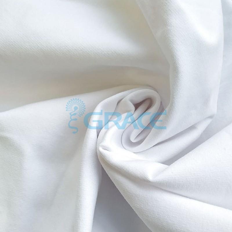 Футер 280 гр. - ткань хлопковая, с начесом, белого цвета