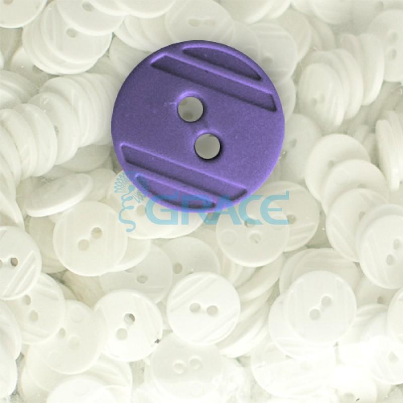 Пуговицы средние круглые плоские Guz YP 1824 (фиолетовые 56-38)