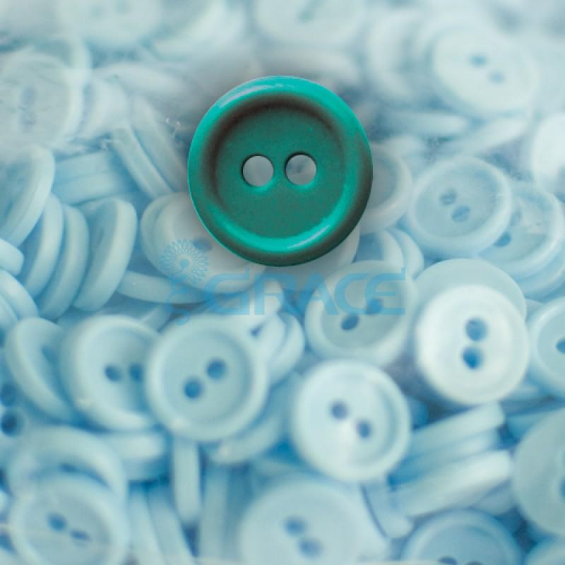 Пуговицы мелкие круглые плоские Guz YP 1818 (зеленые 60-15)