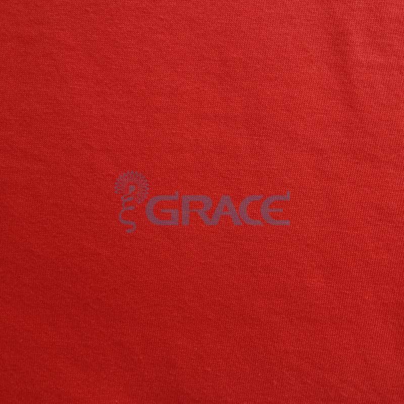Кулирка GVS01 - ткань хлопковая трикотажная, красная